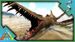 MAGICAL LIOPLEURODON TAMING HOW TO TAME  DROP LUCK ABILITY - Ark Survival Evolved S3E101