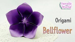 Origami - Bellflower, Balloon Flower (paper flower)