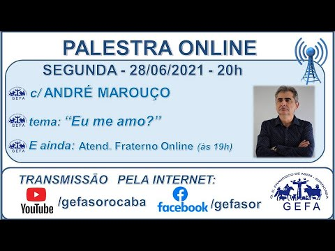 Assista: Palestra Online - c/ ANDRÉ MAROUÇO (28/06/2021)