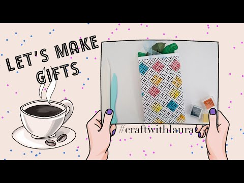 Paper gift bag tutorial / Gift wrapping (5)