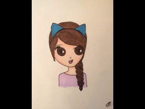 how to draw a girl with cat ears youtube