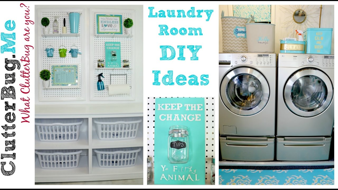 3 Easy Diy Laundry Room Ideas On A Budget Youtube