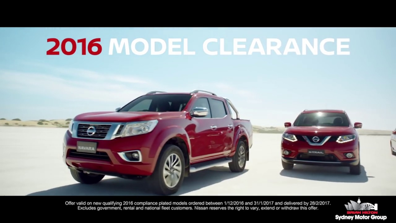 Sydney City Nissan 2016 Model Clearance