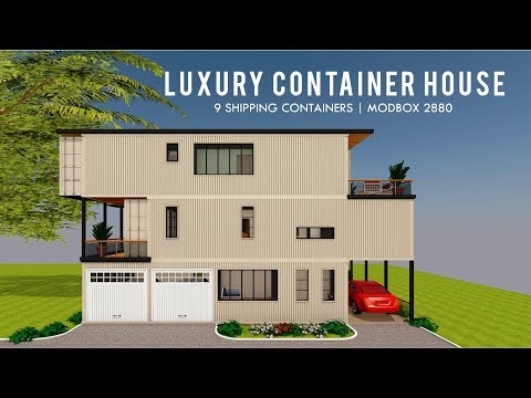 Luxury Shipping Container House Design with 3000+ Square Feet Floor Plans | MODBOX 2880