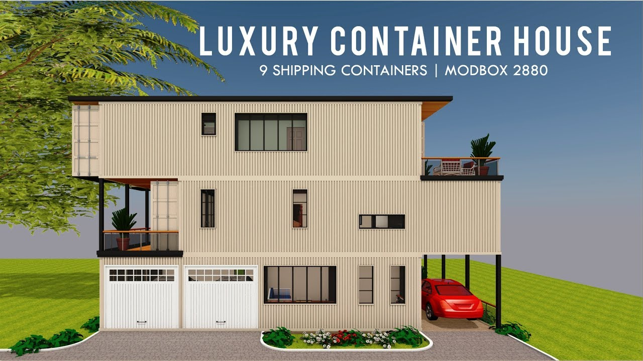 Download Luxury Shipping Container House Design With 3000