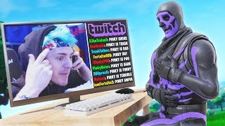 So I triggered Ninja livestream in Friday Fortnite...