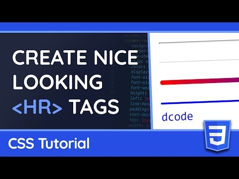 Styling Horizontal Rule Tags (hr) - CSS Tutorial