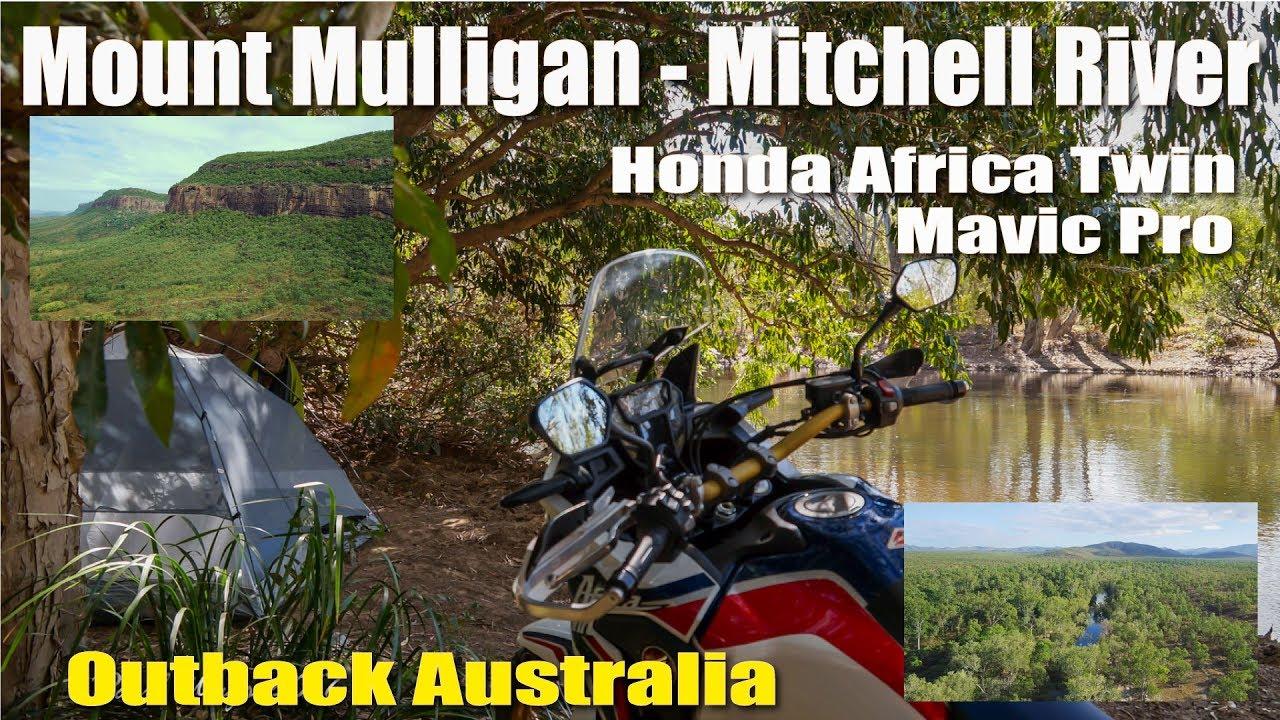 Honda Africa Twin Mount Mulligan Mitchell River Mavic Drone Camping