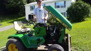 The John deere 210 gets a new engine! ( part one)
