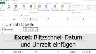 Excel: Blitzschnell Datum und Uhrzeit eingeben