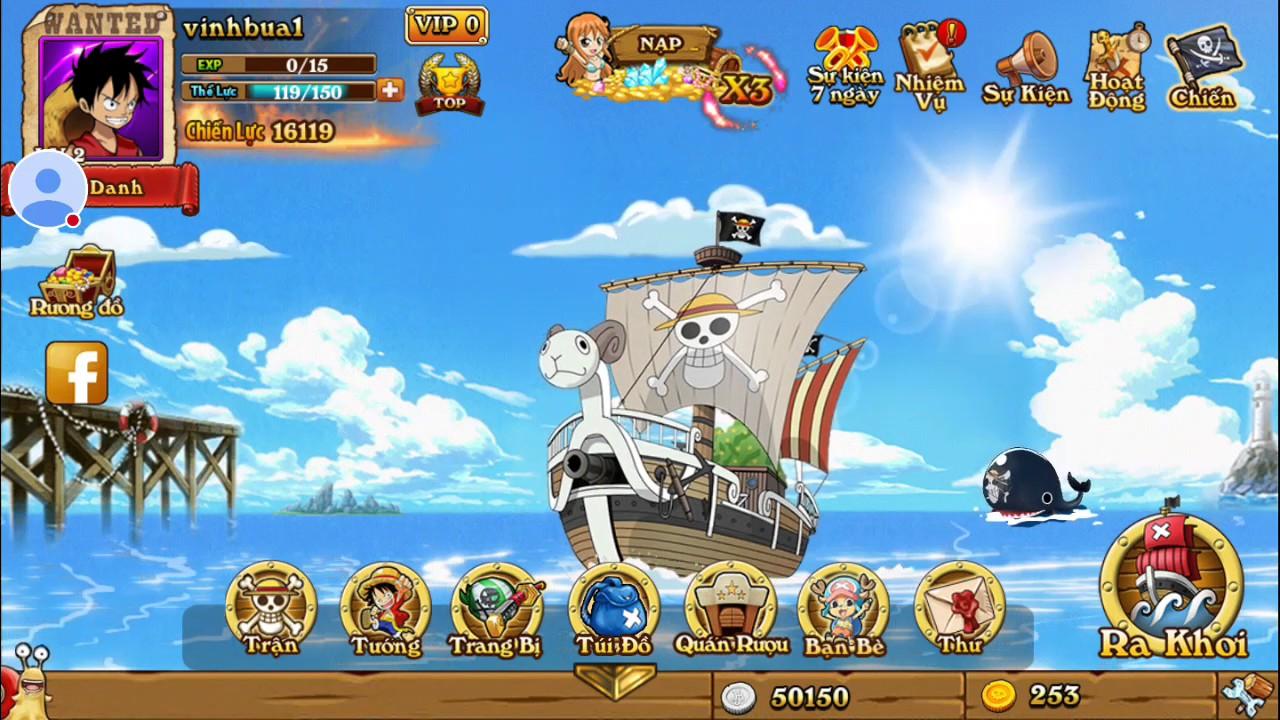 Haki Bá Vương!! Trò chơi đảo hải tặc…