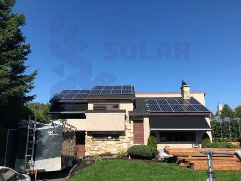 Installation De Panneaux Solaires A St Sauveur, QC. Installation Of Solar Panels In St Sauveur, QC.
