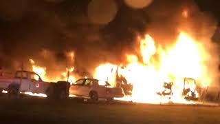 Fire destroys Mantua trash trucks