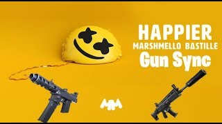 Marshmello ft. Bastille - Happier gun sync fortnite