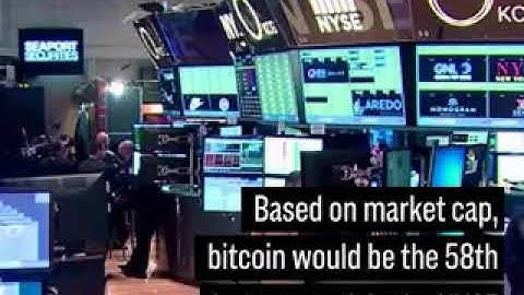 Bitcoin is now bigger than Goldman Sachs and Morgan Stanley
