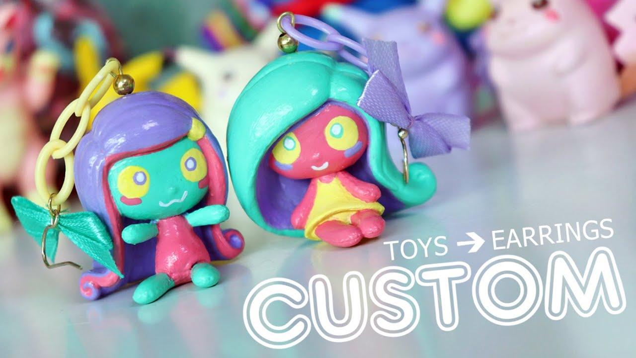 Custom Monster High Mini Earrings DIY!