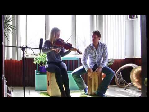Cajon & Fiddle Cover  Paul Jennings w Hannah Read