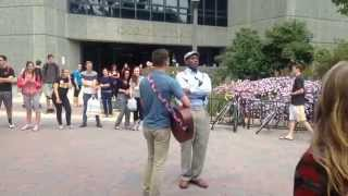Homophobic Preacher drowned out by Love and Tolerance