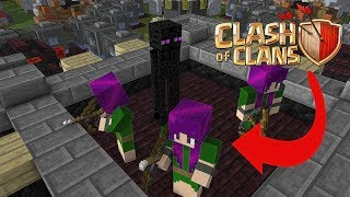 monster school attacking clash of clan village minecraft animation