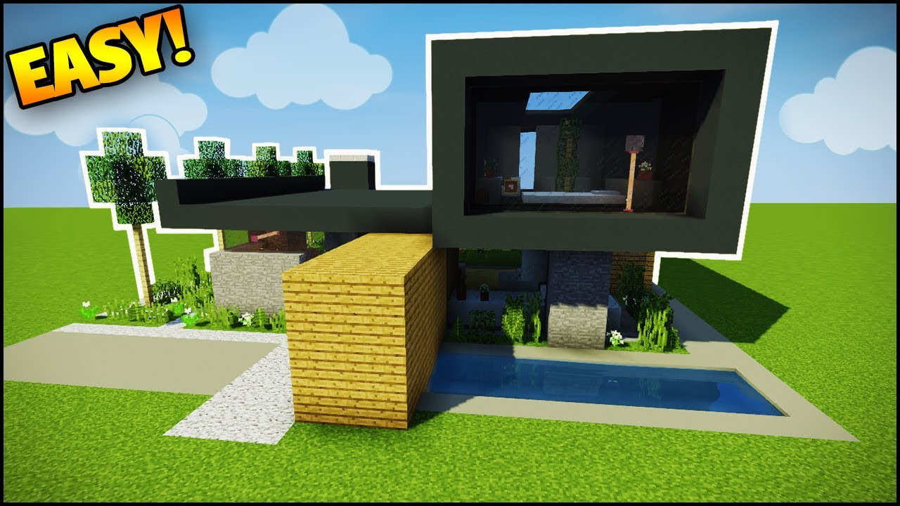 Minecraft How to Build a Modern House 5 Easy Tutorial How to