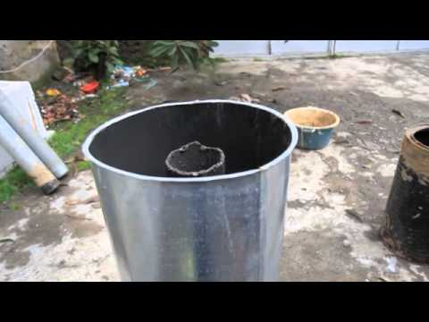 Portable rocket stove small mass heater youtube for Small rocket heater