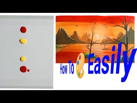 Easy Trick of Sunset Painting Nyshabanku