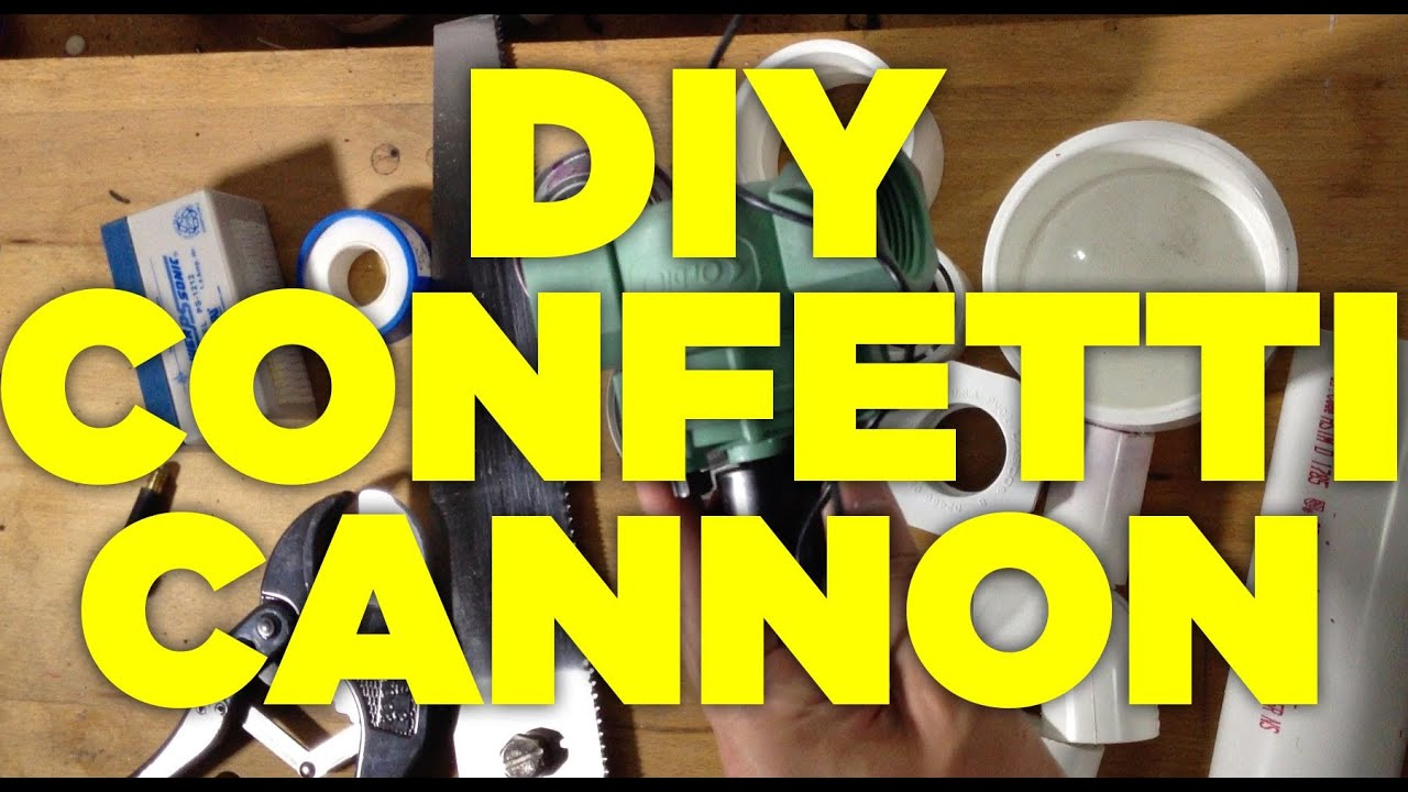 Uncategorized Diy Confetti Cannon home made air powered confetti cannon youtube
