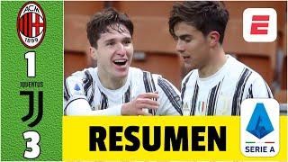 Milan 1-3 Juventus. PARTIDAZO. Doblete de Chiesa y asistencias de Dybala. CR7, muy poco  | Serie A