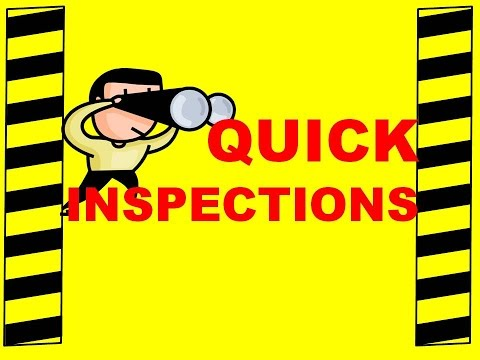 Quick Inspections - Safety Training Video - Inspect Workplace: Prevent Accidents