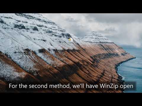 How to Unzip Files Using WinZip