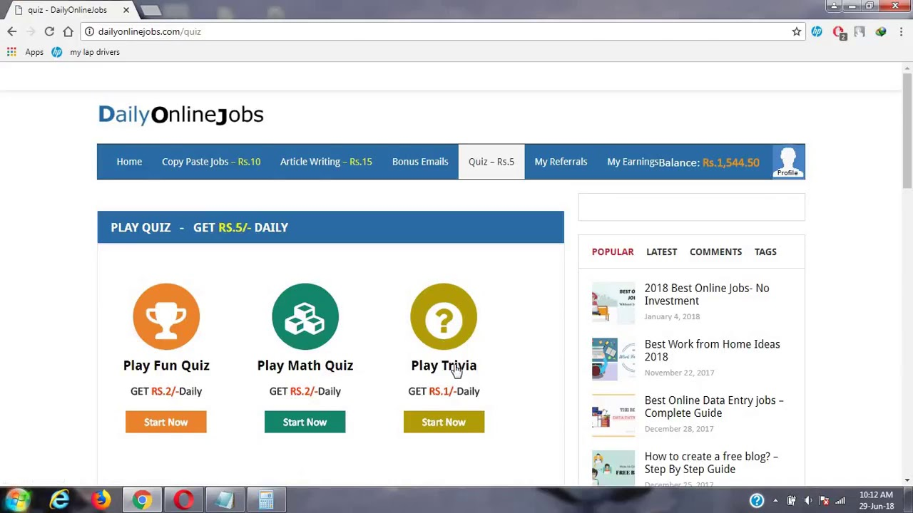 Daily Online job - YouTube
