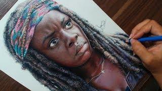 Desenhando a Michonne   The Walking Dead