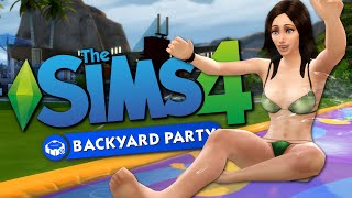 BACKYARD PARTY - Sims 4 Perfect Patio and Backyard Stuff - The Sims 4 Funny Highlights #77