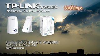 Setting TP-LINK TL-WA850RE Range Extender Setup Guide via Smartphone and PC