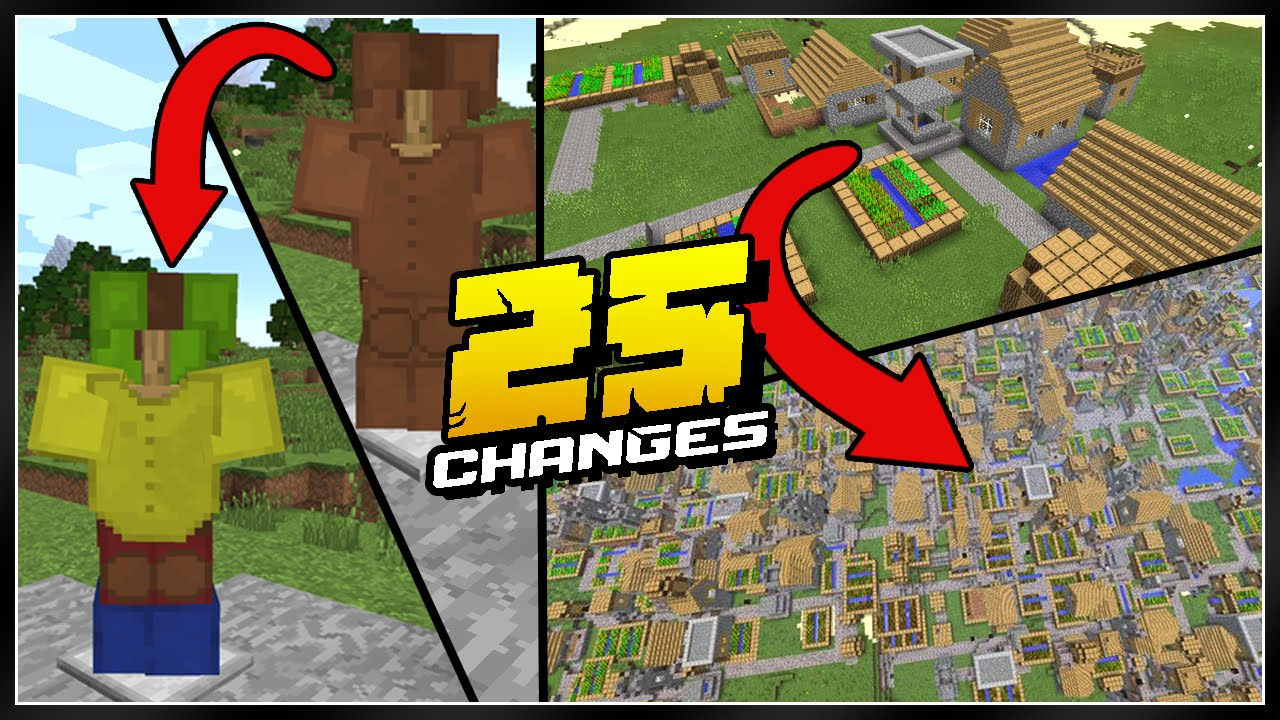 25 minecraft pocket edition changes - youtube