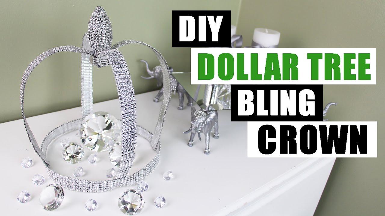 Diy Dollar Tree Bling Crown Dollar Store Diy Glam Decor
