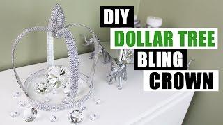 DIY DOLLAR TREE BLING CROWN | Dollar Store DIY Glam Decor | DIY Bling Glam Room Decor