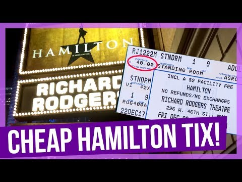 How I Got CHEAP Hamilton Tickets in NYC!