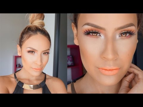HOW TO: Top Knot + Coral Makeup