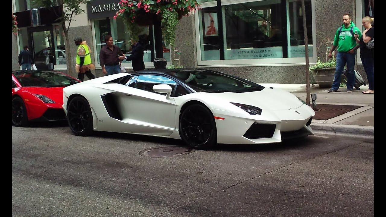 Derrick Rose Test Drives Lamborghini Aventador Roadster ...