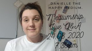 Live Q&A on Mediumship Mechanics & Mediumship Development at 7.30 pm BST.