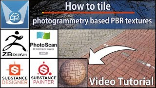 How to tile photogrammetry based PBR materials