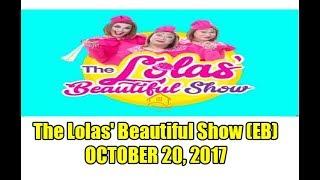 The Lola's Beautiful Show guest: Rodjun Cruz and Dianne Medina October 23, 2017