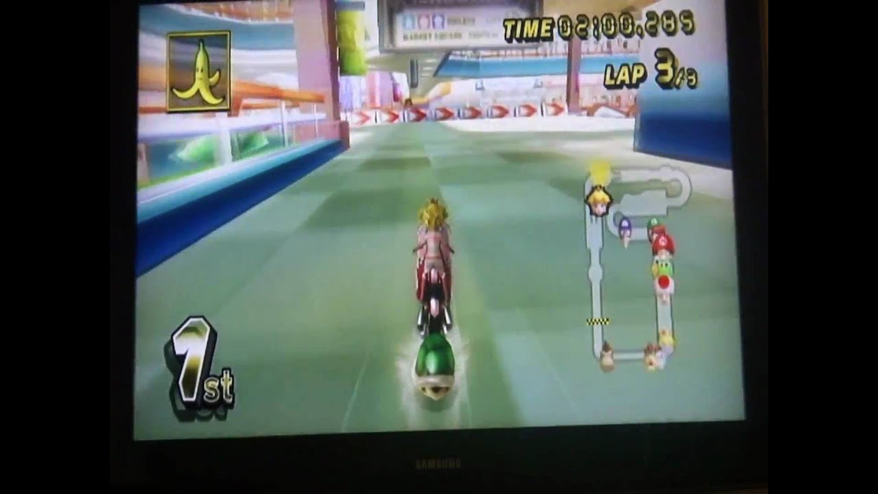 Mario Kart Wii Coconut Mall With Peach Bike 1080p Hd