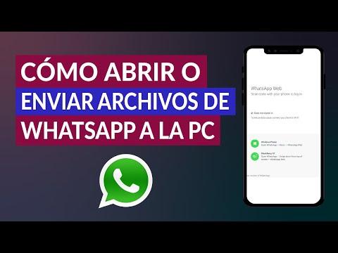 Cómo Abrir o Enviar mis Archivos de WhatsApp a la PC - Fácil y Rápido
