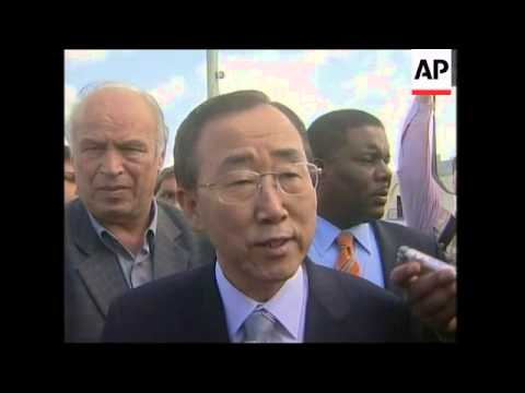 Ban Ki-moon visits refugee camp near Bethlehem