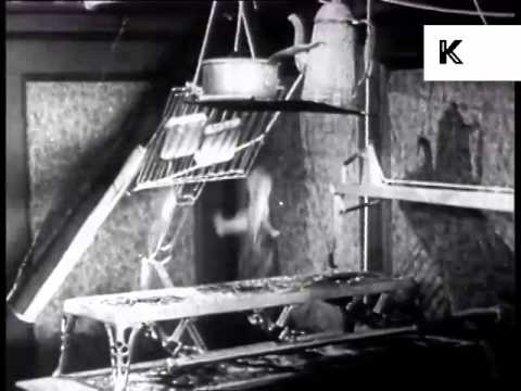 1920s Inventor Wakes Up, Morning Gadgets, Archive Footage