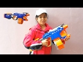 Let's Play Nerf Elite Hyperfire Review and Firing Test