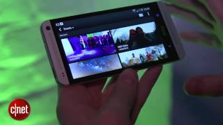 the HTC One's BlinkFeed and new Sense 5.0 features in video