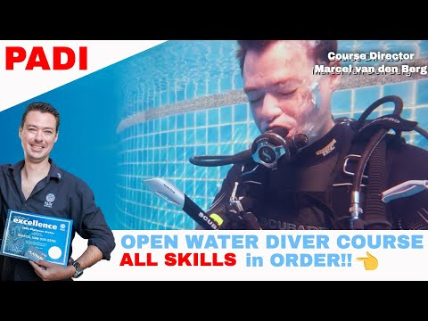 PADI Open Water Diver Course Video 🤿 ALL Skills In Order • Scuba Diving Tips